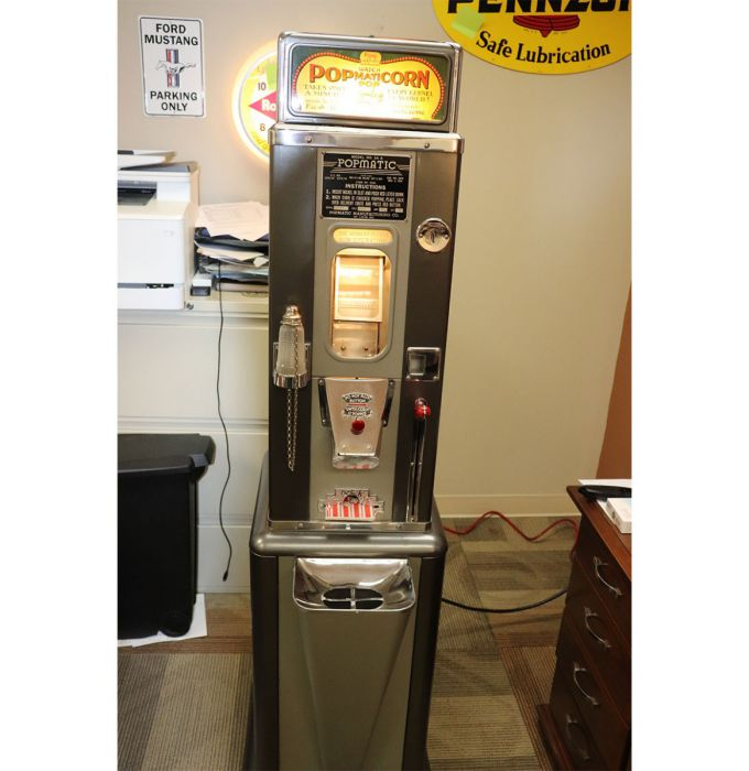 PopMatiCorn Popcorn Machine - 1950's - Model 24A - By PopMatic Manufacturing Company (St.Louis) - Consignment