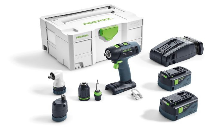 FESTOOL T 18+3 LI 5,2 SET ACCUSCHROEFBOORMACHINE | LI-ION 5.2AH - 574758